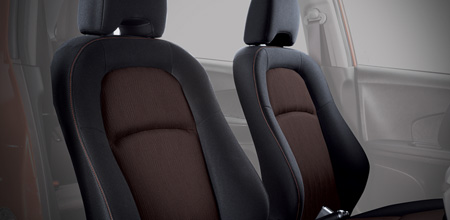 Black Fabric Seats with Orange Stitching (1.5 RS Navi CVT only)