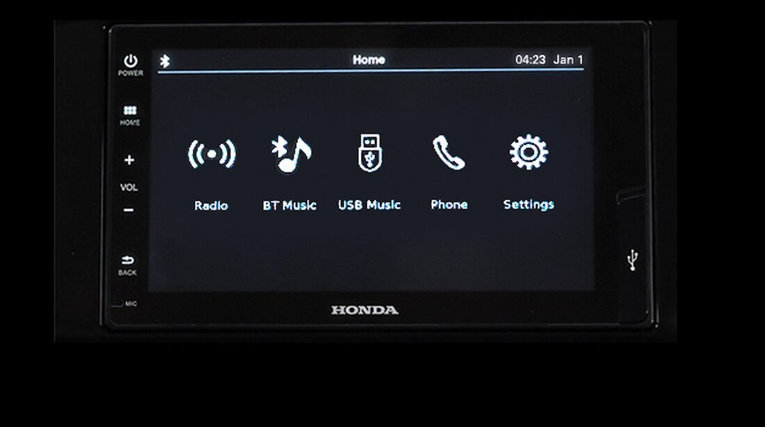 ​7 Capacitive Touchscreen Audio with Bluetooth Connectivity & Audio Streaming (For RS Black Top CVT, RS CVT and V CVT variants only)