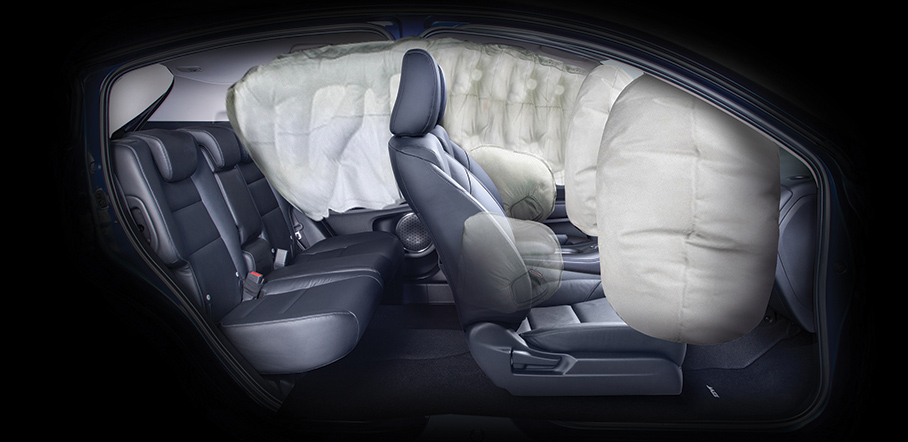 Front, Side & Side Curtain Airbags
