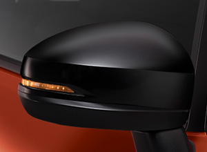 Gloss Black Door Mirrors with Integrated Side Turn Signal Lights
