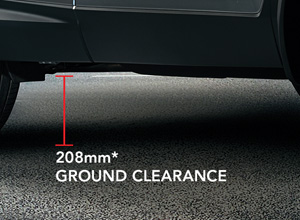 Ride High with the All-New CR-V's 208mm* Ground Clearance